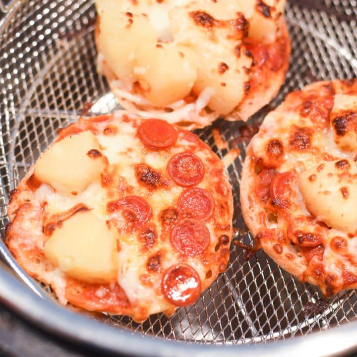 Air Fryer English Muffin Pizzas