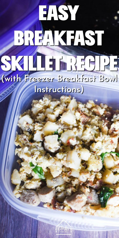 Breakfast skillet / cast iron skillet breakfast / potato skillet / breakfast potato skillet / breakfast meal prep / easy meals / breakfast bowls #ad  via @clarkscondensed