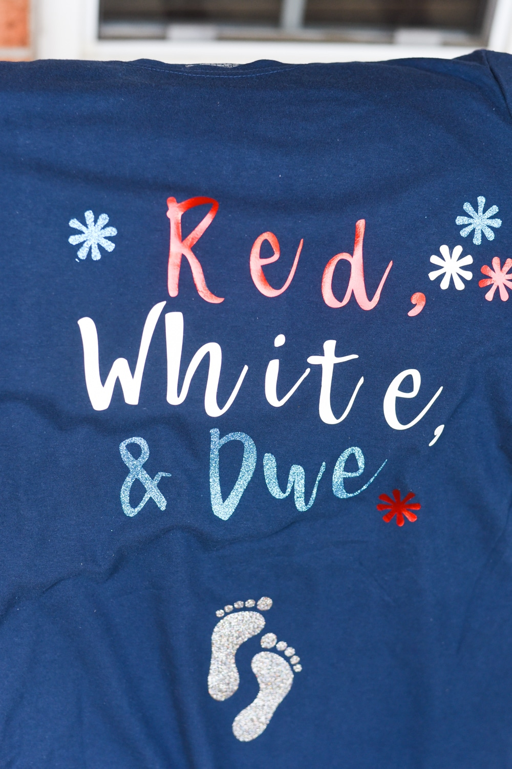 Red, White, and Due Maternity Shirt