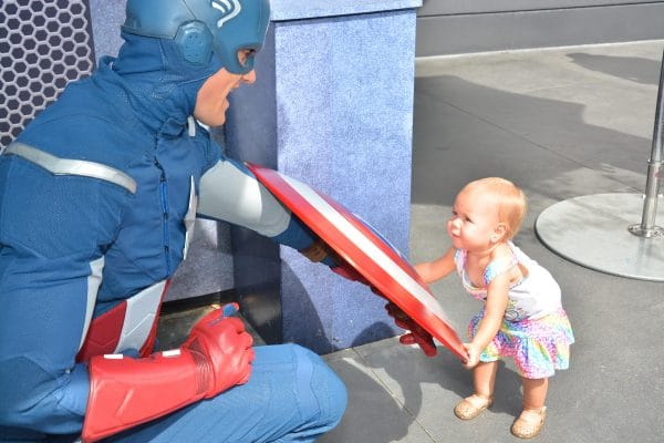 little girl with captain america