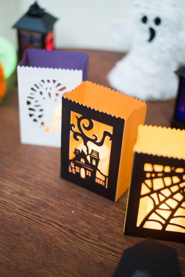 Halloween DIY luminaries