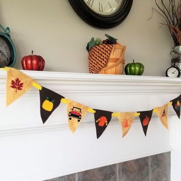 fall bunting pattern