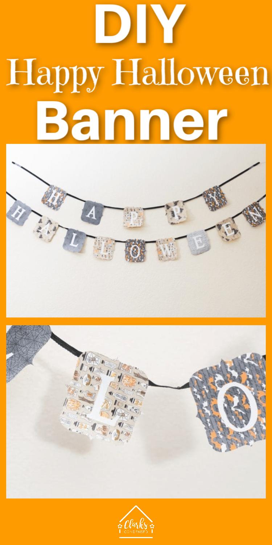 DIY Happy Halloween Banner – Free Design Space File via @clarkscondensed