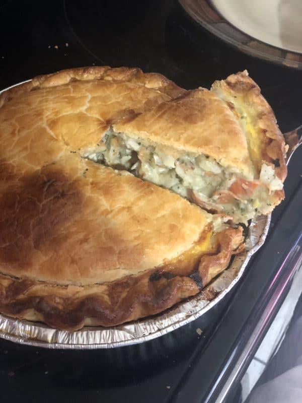 Closeup of a pie