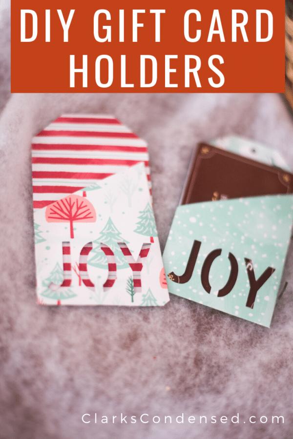 DIY Gift Card Holders