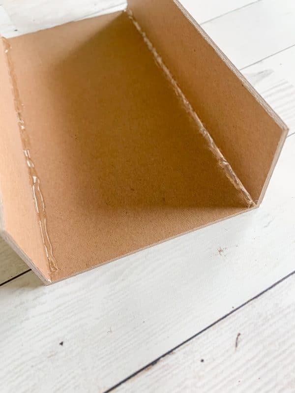 A close up of a box