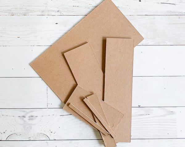 A close up of cardboard