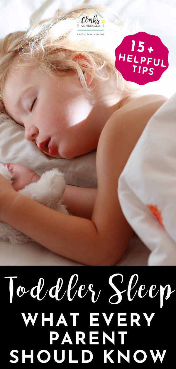 Do you have a toddler that has trouble sleeping? Welcome to the club! Here are over 15 tried and true toddler sleep tips that might help! via @clarkscondensed