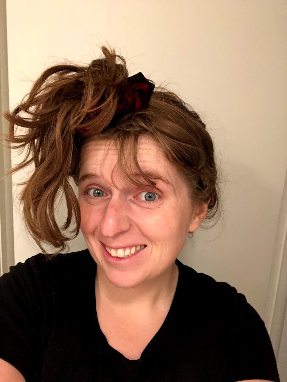 how i pineapple my hair