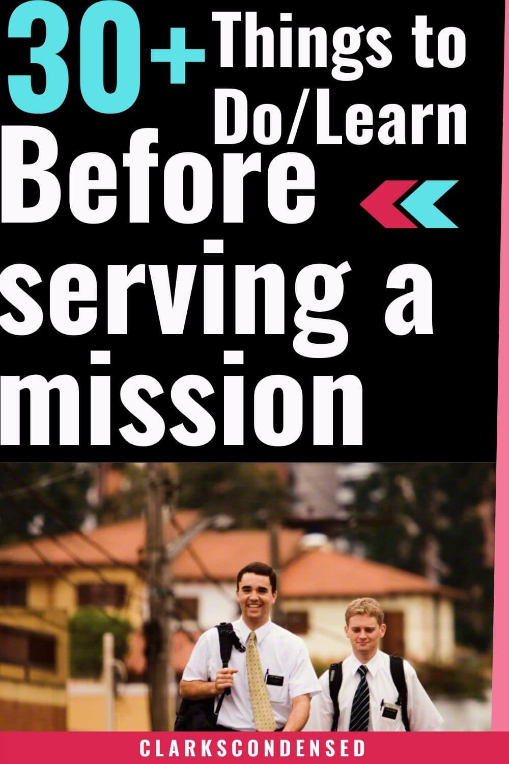 30+ Things to do/learn before serving a mission for the Church of Jesus Christ of Latter-day Saints / LDS Missionary List via @clarkscondensed