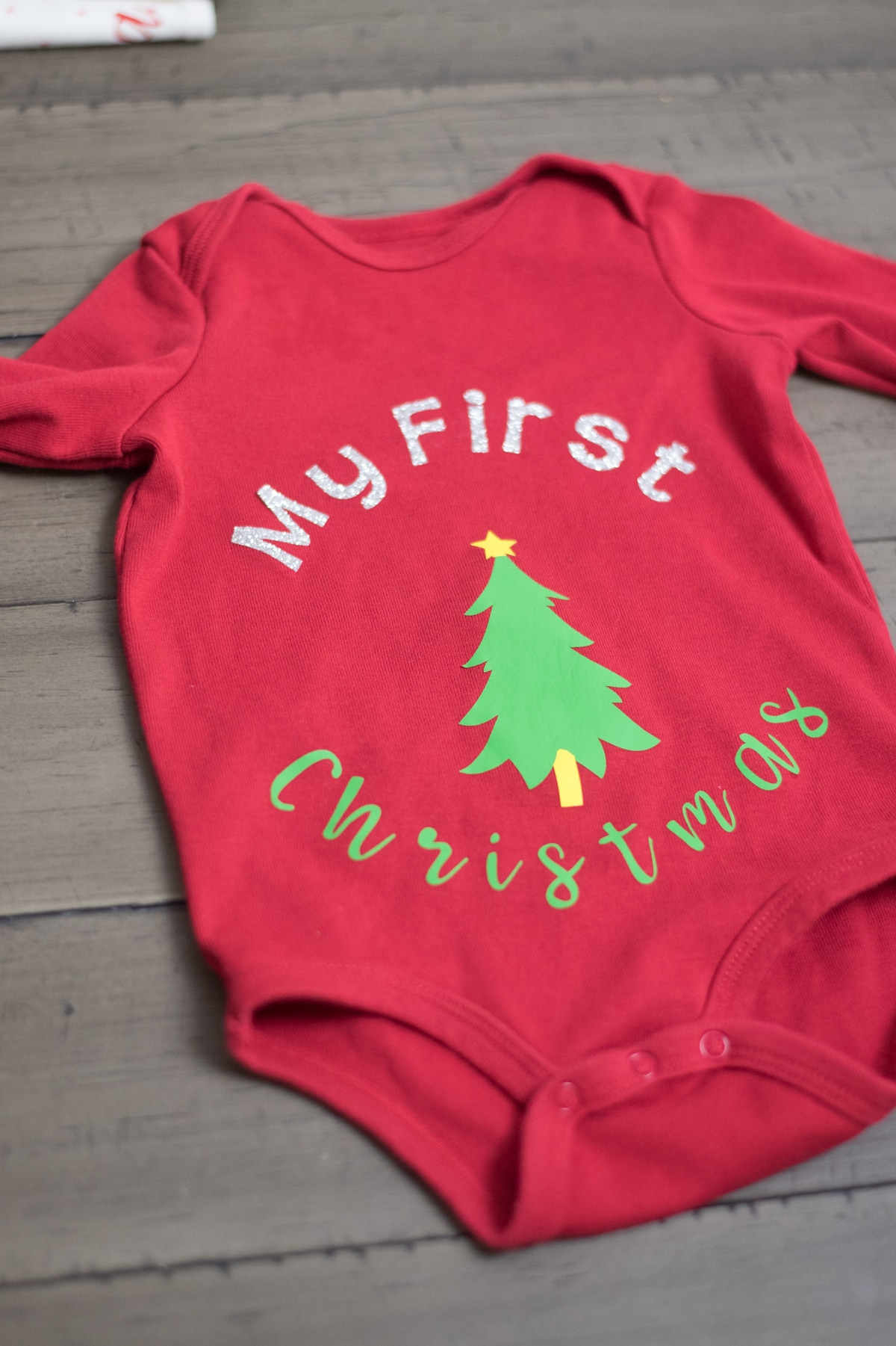 My First Christmas Red Colored Baby Cloth