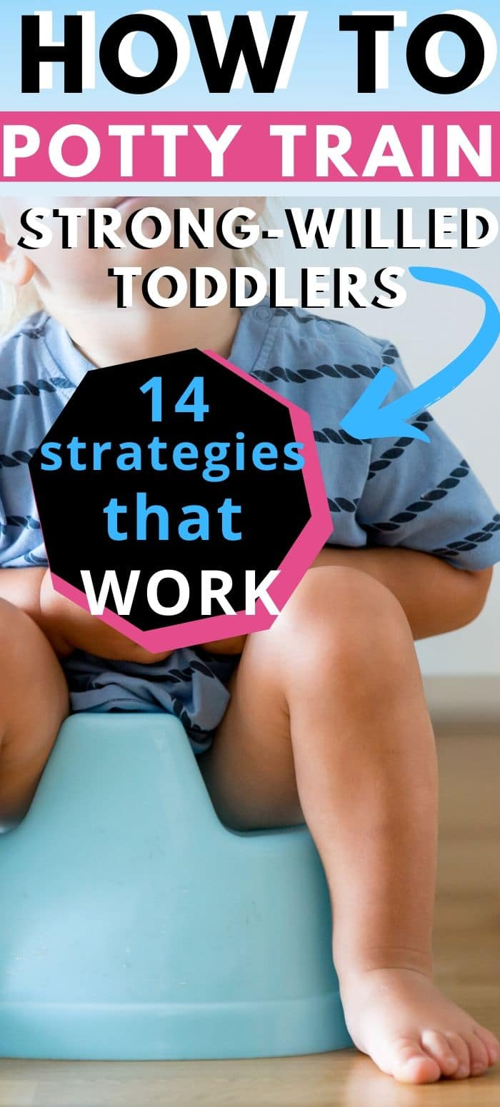 Potty training is NOT easy - especially when you have a strong-willed or stubborn child. Here are 14 strategies that actually work #pottytraining via @clarkscondensed
