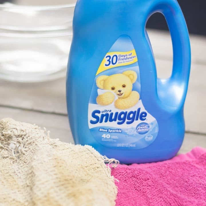 Snuggle Detergent Liquid on a table
