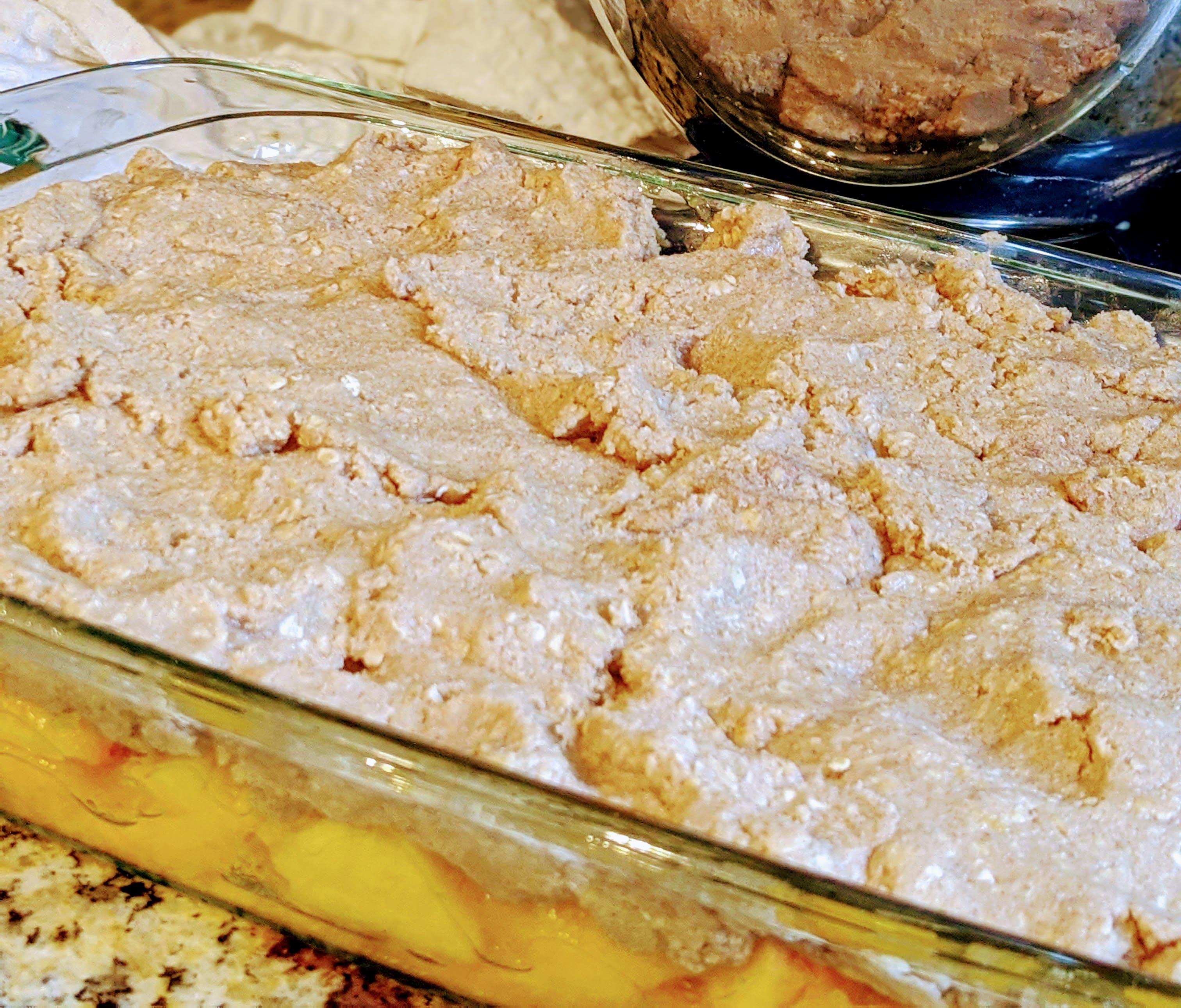 cooked peach crisp