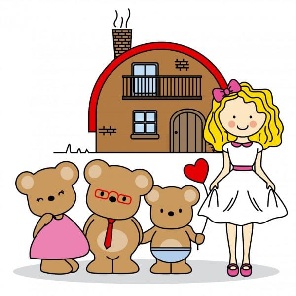 goldilocks and the three bears illustration