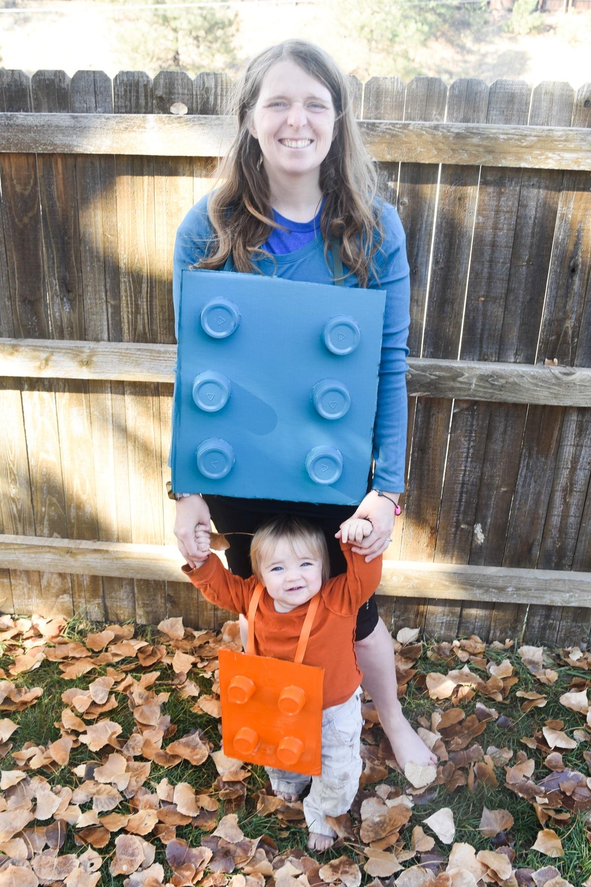 DIY LEGO Costume - mom and son