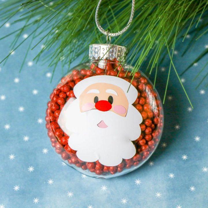 DIY Santa Claus Disc Ornament