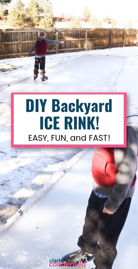 backyard ice rink via @clarkscondensed