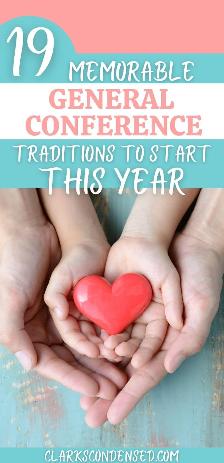 General Conference is a wonderful time of year for Latter-day Saints around the world. Over the years, many families have developed memorable General Conference traditions that they look forward to. Here are 19+ ideas that you might want to try! via @clarkscondensed