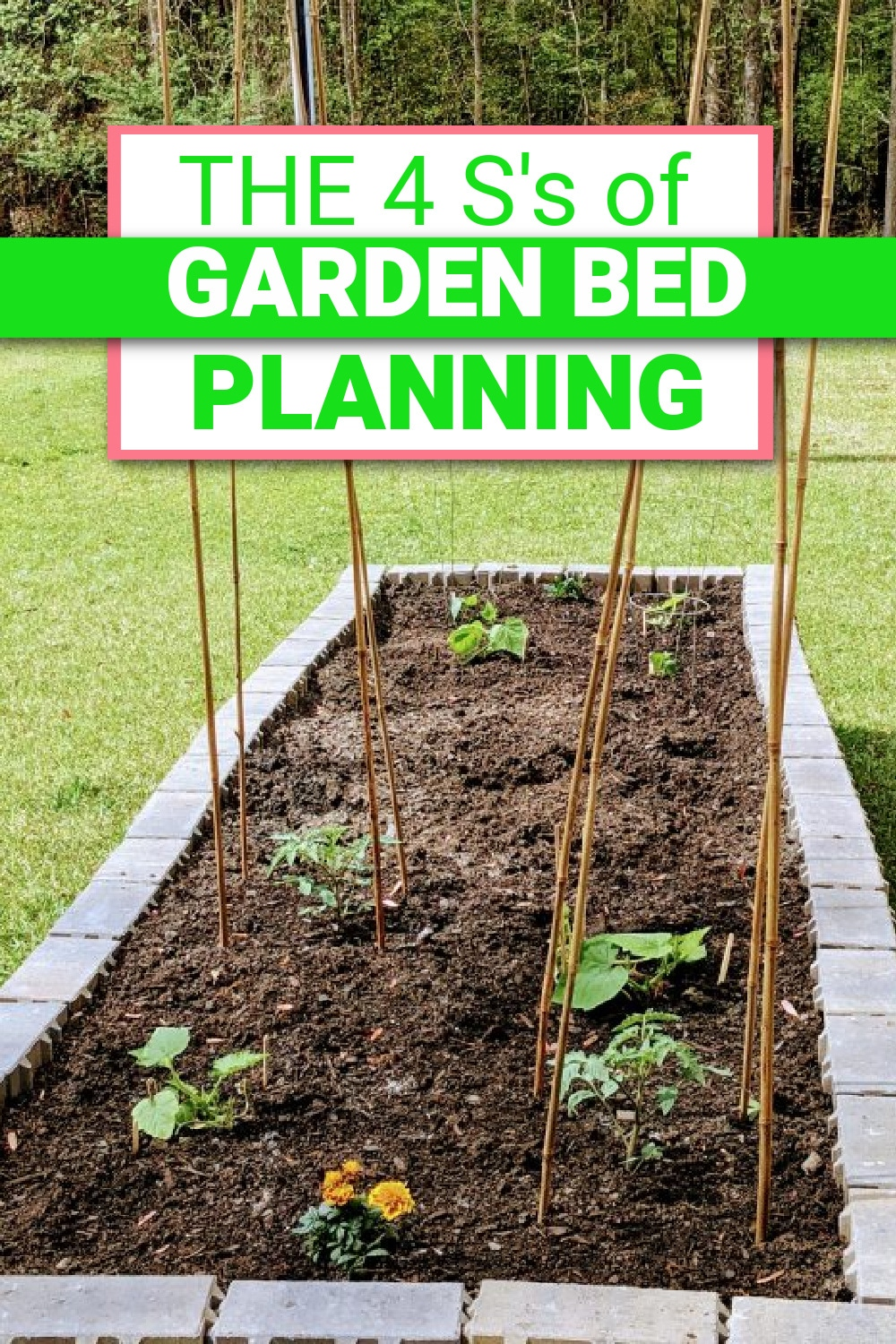 "Making your raised garden bed plans come to life can take some time - here are the 4 ""S""'s to help get you started on the right path! via @clarkscondensed"