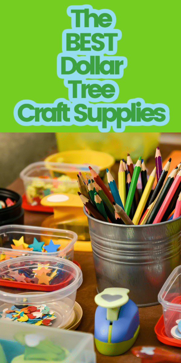 The Dollar Tree is the perfect place to buy craft supplies! They have so much to choose from- and a lot of it is just as good as the expensive stuff! Keep reading to learn what craft supplies you should buy at the Dollar Tree! via @clarkscondensed