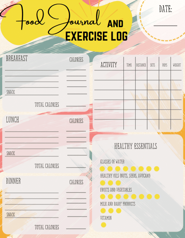 """<span itemprop=""""name"""">Food Journal and Exercise Log</span> via @clarkscondensed"""