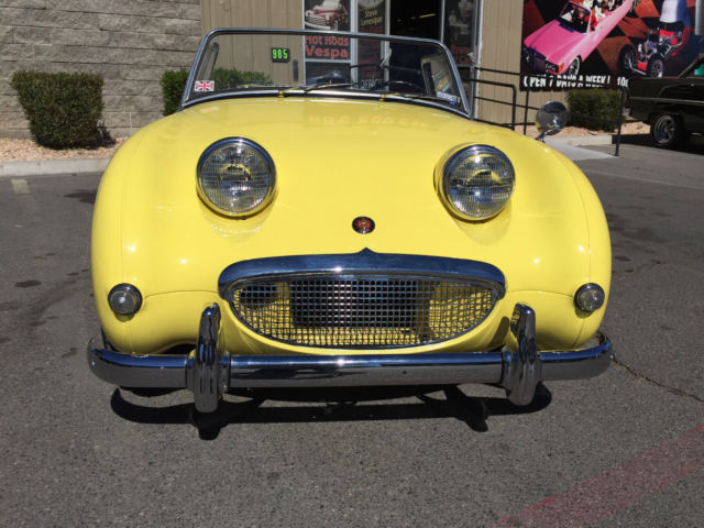 Seller of Classic Cars   1959 Austin Healey Sprite  Yellow Black  1959 Austin Healey Sprite  Yellow Black