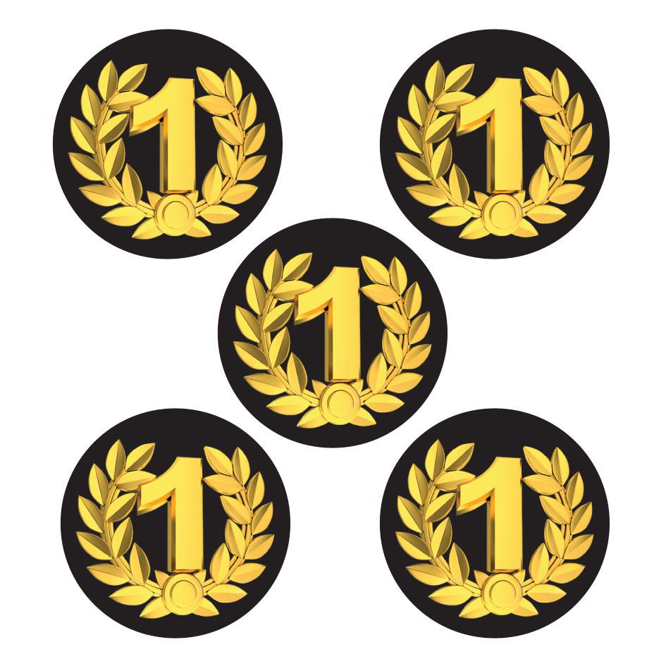 Sports Stickers   1st Place Shiny Foil, Large Award ...