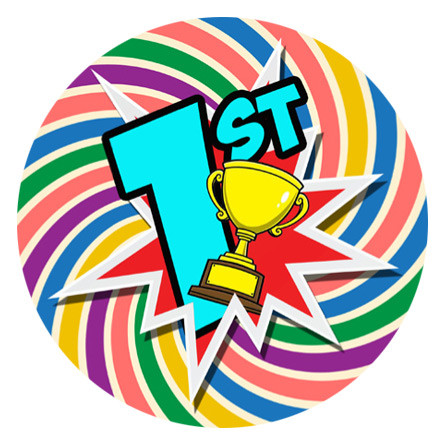 School Stickers   140 Rainbow Spiral 1st Place Sports Day ...