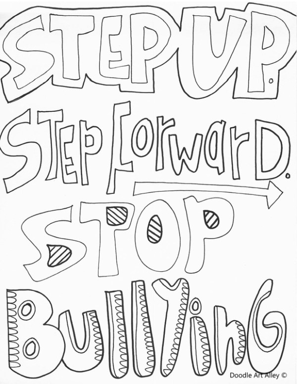 bullying coloring pages # 7