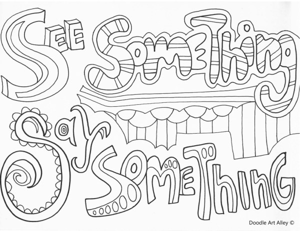 bullying coloring pages # 5