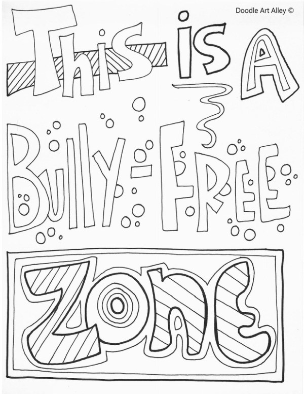 bullying coloring pages # 1