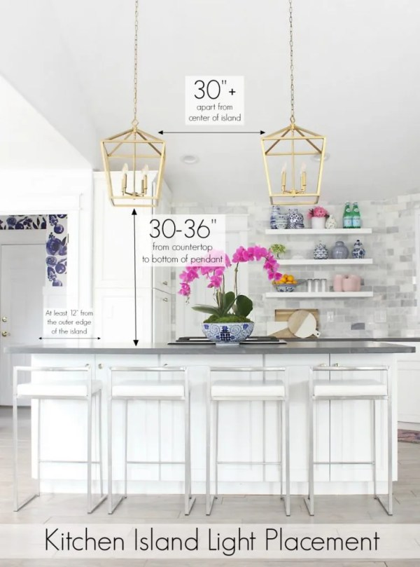installing pendant lights over kitchen island # 21