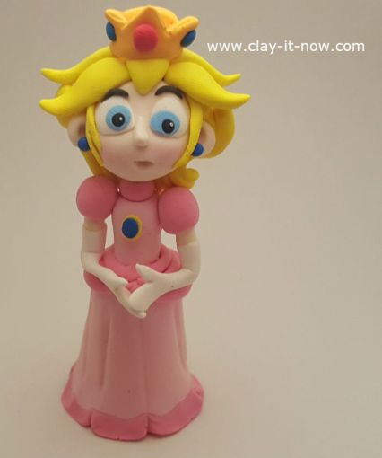 Princess Peach Clay  a Character from Super Mario Games