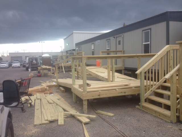 Ada Access Ramp Clayton Construction Services Llc | Ada Compliant Wood Handrails | Accessible Ramp | Wooden Ramp | Commercial | Stair | Deck