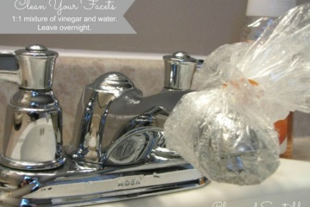 Spring Cleaning the Bathroom   Clean and Scentsible How to clean a faucet with mineral build up