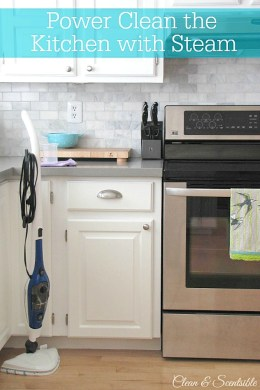 Power Clean the Kitchen with Steam   Clean and Scentsible Power cleaning the kitchen with steam  This easy green cleaning method will  save you time