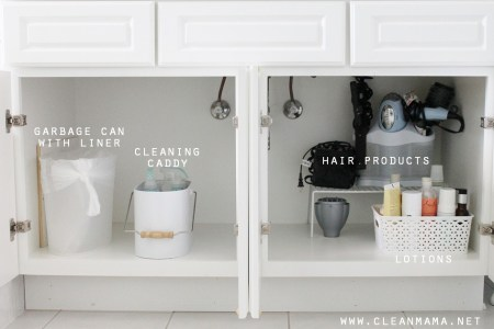 4 Tips to Organize Under the Bathroom Sink   Clean Mama 4 Tips to Organize Under the Bathroom Sink via Clean Mama
