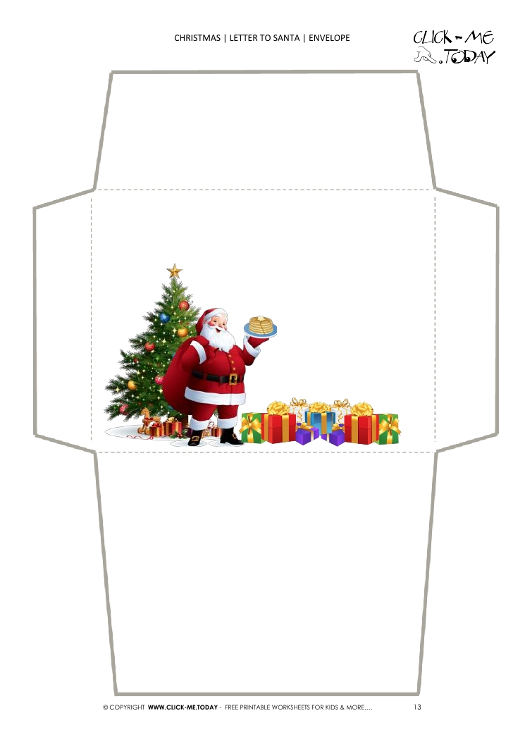 graphic about Christmas Envelopes Free Printable identified as letter against santa envelope template - Sinma