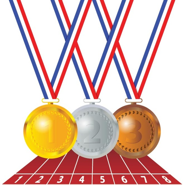 Gold Medal Vector - ClipArt Best