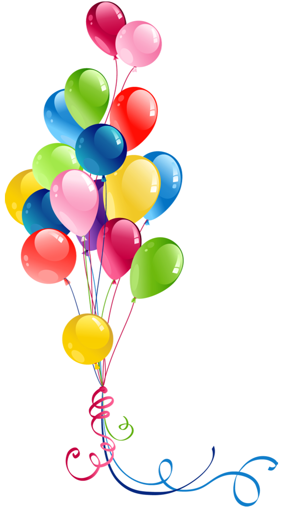 Transparent Bunch Balloons Clipart Clipart Best