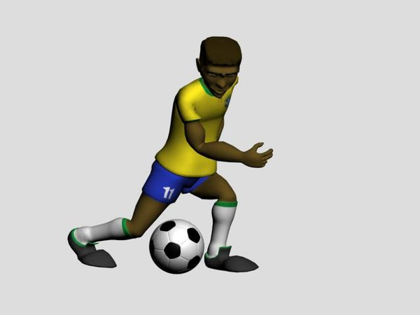 3d soccer player - ClipArt Best - ClipArt Best