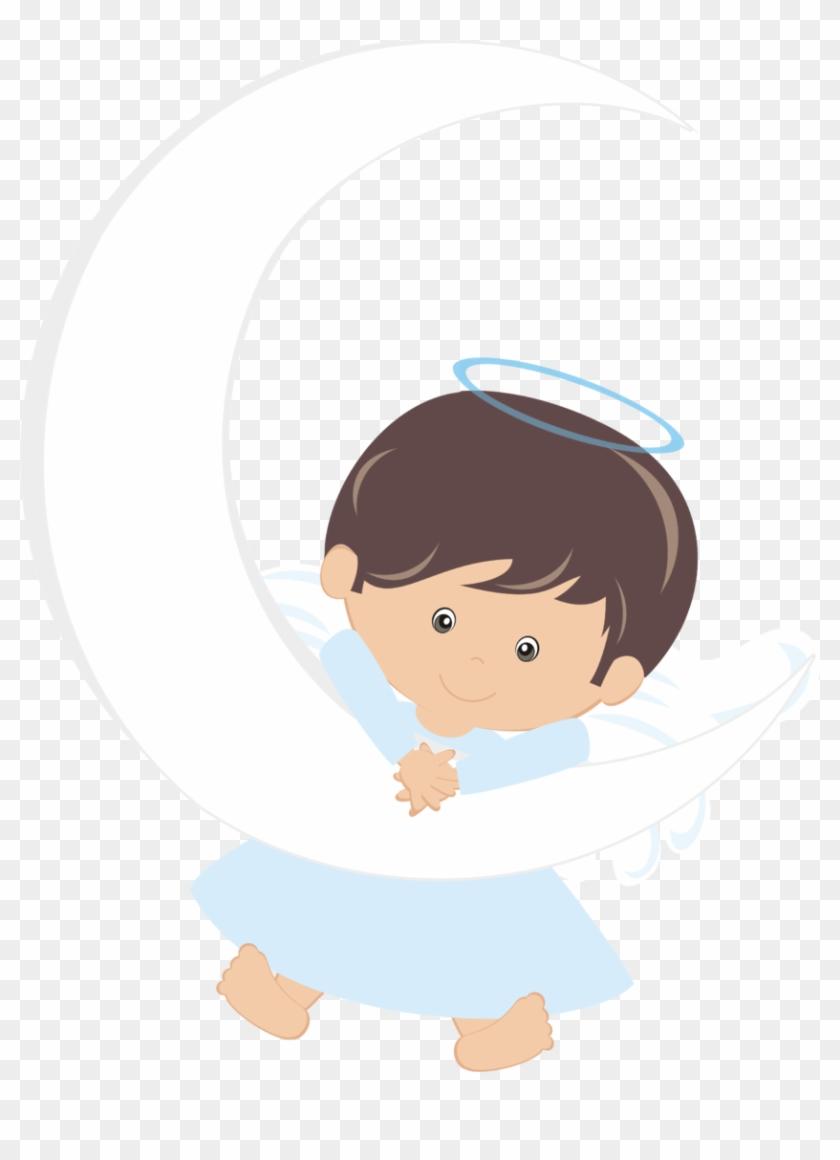 angel clipart boy - 728×900