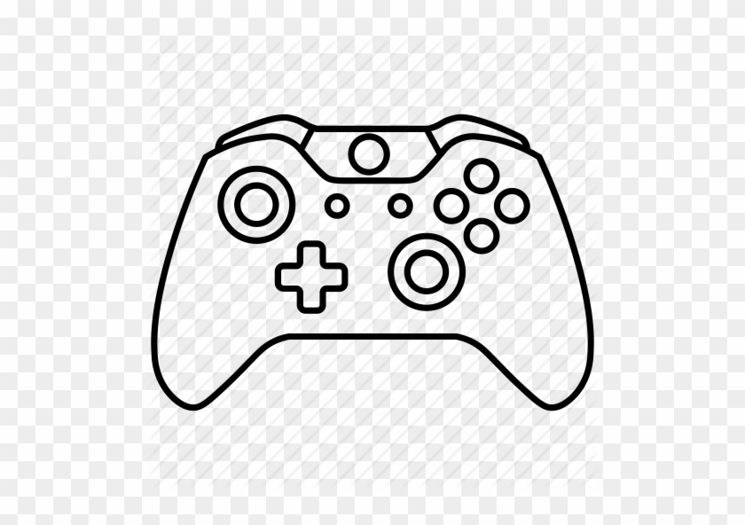 Xbox Controller Line Drawing Drawing Tutorial Easy