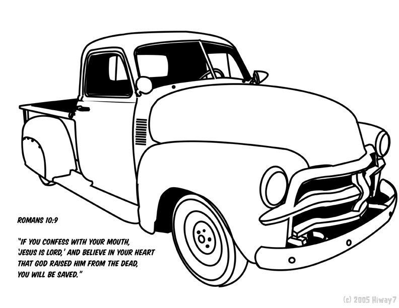 1968 Chevy C10 Coloring Pages