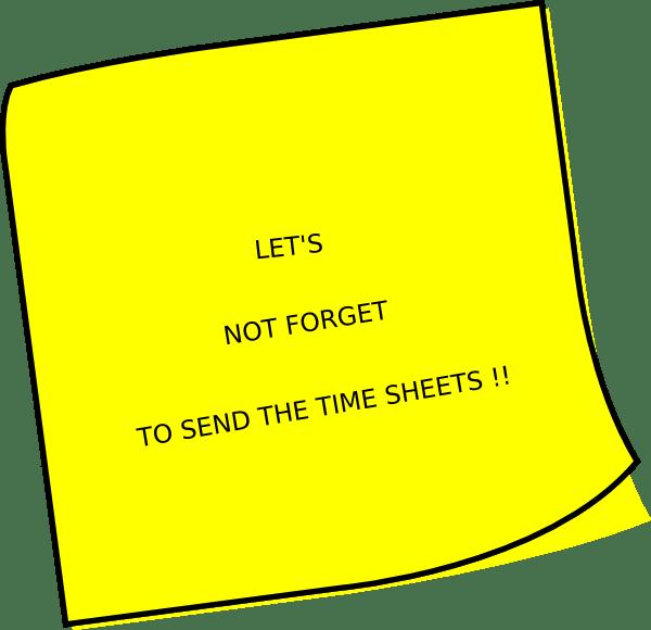 Timesheet Reminder Cartoon