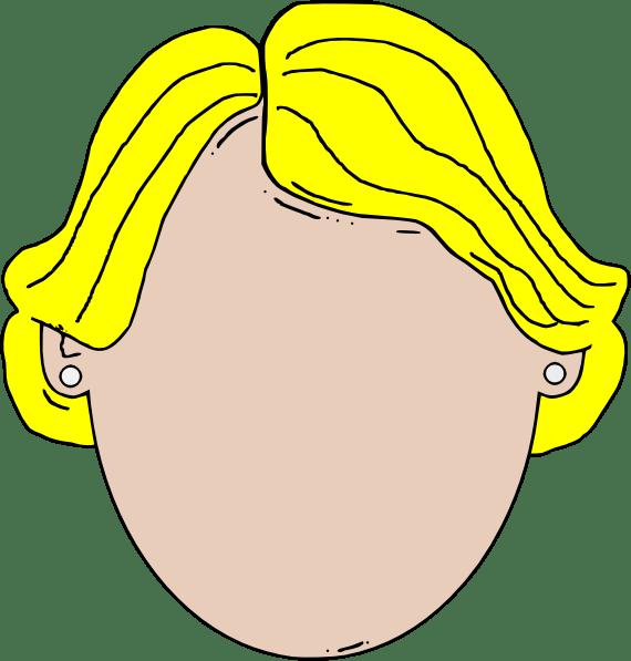 Blank Face Girl Cartoon Clip Art at Clker.com - vector ...