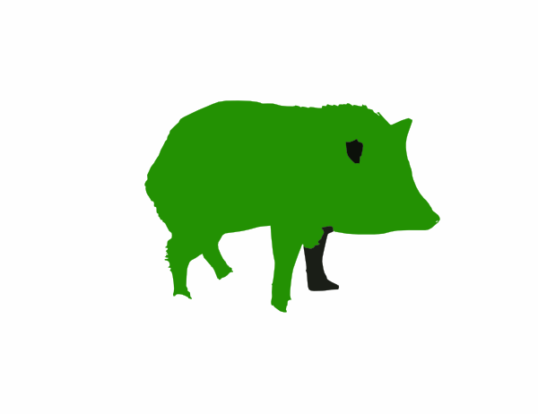 Green Javelina Logo Clip Art At Clker Com Vector Clip