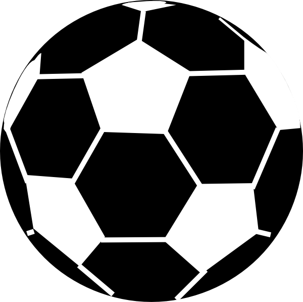 Black And White Soccer Ball Clip Art at Clker.com - vector ...