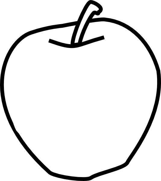 Apple Clipart Black And White Png